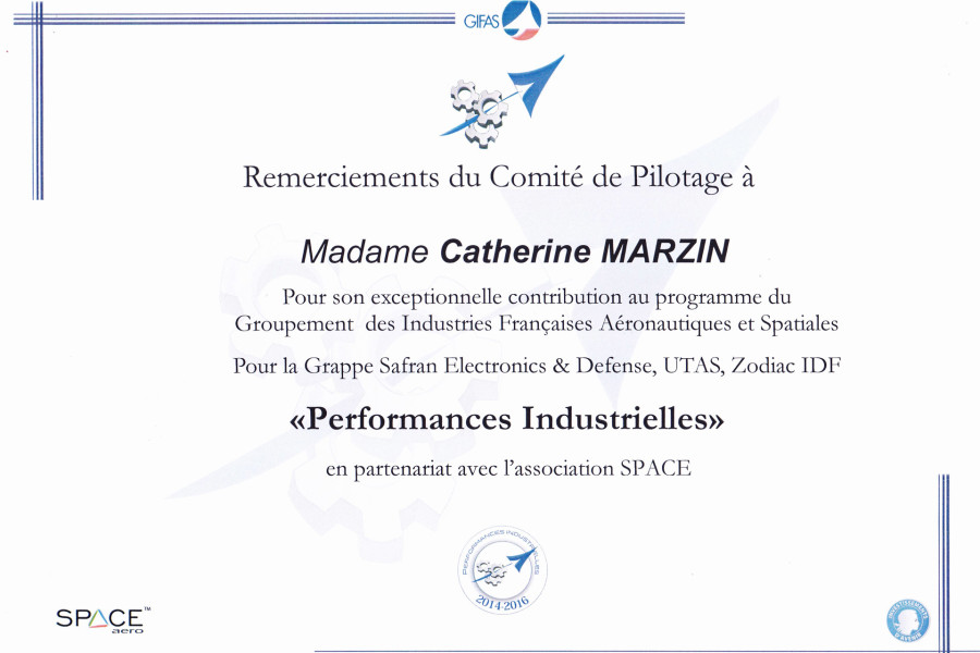 Performances Industrielles Gifas 2014-2016